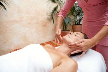 kobieta, spa, masaż, relaks