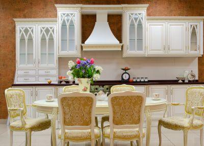 kuchnia, jadalnia, mieszkanie, art decor, secesja, meble kolonialne